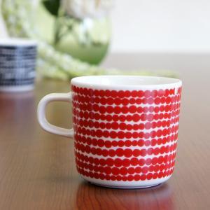 マリメッコ marimekko コーヒーカップ SIIRTOLAPUUTARHA/RASYMATTO(ラシィマット)/RED|mottozutto