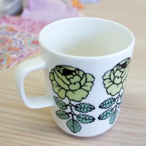 【 Marimekko 正規販売店 】北欧 マリメッコ 通販 ウエディングローズ コーヒーカップを暮...