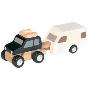 ★8%OFFクーポン対象ストア26日1時迄★プラントイ 木のおもちゃ PlanCity 4WDとキャンピングトレーラー【店頭受取も可 吹田】|mottozutto