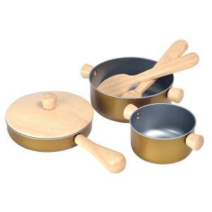 プラントイ 木製ままごと 調理用具セット(2歳から)|mottozutto