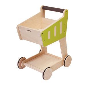 プラントイ 木製ままごと ショッピングカート(2歳から)|mottozutto