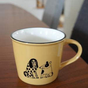 リサラーソン 陶器のマグカップ スケッチいぬたち/キャラメル【店頭受取も可 吹田】|mottozutto