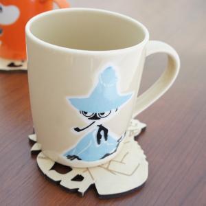 ムーミン 木製コースター付マグカップ スナフキン【店頭受取も可 吹田】|mottozutto
