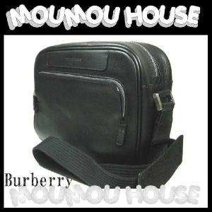 Burberry バーバリー メッセンジャー 斜め掛けショルダーバッグ ブラック×レザー 美品|moumouhousestore