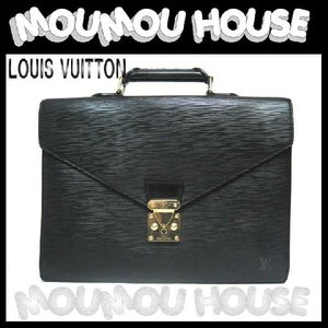 LOUIS VUITTON ルイヴィトン 黒エピ セルヴィエット・コンセイエ ビジネスバッグ M54422 美品|moumouhousestore