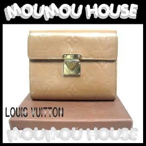 LOUIS VUITTON ルイヴィトン ヴェルニ ポルトフォイユ・コアラ 三つ折り財布 ベージュ レディース 【A-D】中古|moumouhousestore