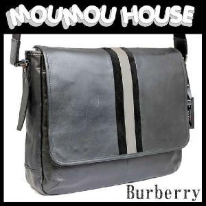 Burberry blacklabel ブラックレーベル レザー×スエード メッセンジャー 斜め掛けショルダーバッグ D1133-212-08 美品 50949 【B-C】中古|moumouhousestore