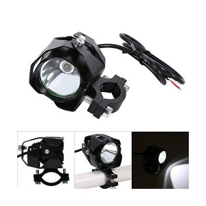 T6 オートバイ LEDヘッドライト フォグランプ ドライビングヘッドライト ランプスポットライト ランプシェード ブラック mount-n-online
