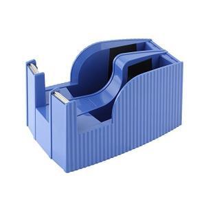 ライオン事務器 テープカッター フリス 2連 太巻専用 TC-30-B ブルー|mount-n-online
