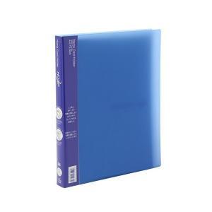 ライオン事務器 名刺ファイル フープ A4S TS-300S-B ブルー|mount-n-online