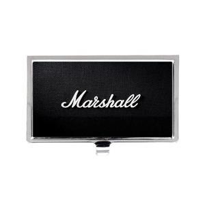 マーシャルロゴ音楽 ステンレス鋼ポケットのビジネス名のクレジットカードケースボックス財布 mount-n-online
