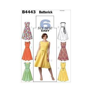 【Butterick】EASY 6種類のデザインワンピースの型紙セット サイズ:U8-10-12-14 *4443|mount-n-online