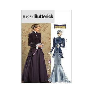 コスチューム 20世紀初頭ヨーロッパ貴婦人の型紙セット サイズ:US8-10-12-14|mount-n-online