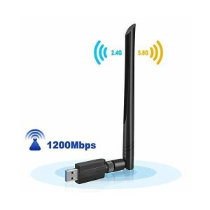 Wifi無線Lan子機5DBi 無線LANアダプタ 1200Mbps USB3.0高速モデル デュアルバンド バイパワー アンテナ wifiアンテナ|mount-n-online