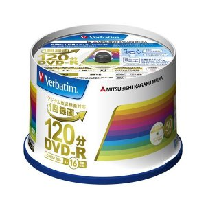 三菱ケミカルメディア Verbatim 1回録画用DVD-R(CPRM) VHR12JP50V4 (片面1層/1-16倍速/50枚)|mount-n-online