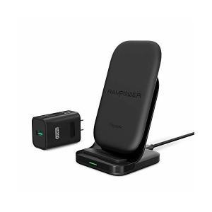 RAVPower iPhone Qi ワイヤレス充電器 急速 Qi認証 【iPhone 最大7.5W/Android 最大10W】 【急速充電アダプ|mount-n-online
