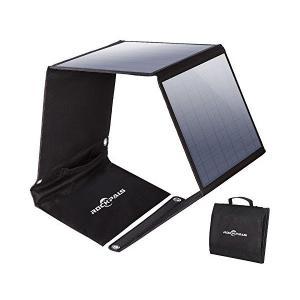 Rockpals ソーラーパネル 50W ソーラーチャージャー 3ポート 高変換効率 折りたたみ式 ...