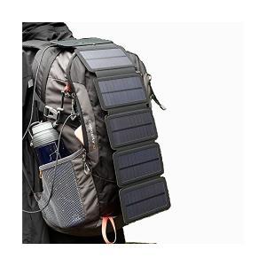 ソーラーバッテリー充電器 ソーラーチャージャー ソーラーパネル 4枚搭載 折りたたみ式 軽量 コンパクト ポータブル アウトドア 旅行 非常用時 ス|mount-n-online