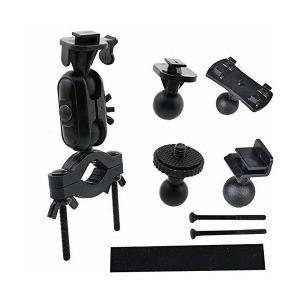 AIUAQG ドラレコ ホルダー 挟みタイプ 車載 ドライブレコーダー 5種類アダプター付き 脱着可能 取付ブラケット 車にアクションカム/GPS/ mount-n-online
