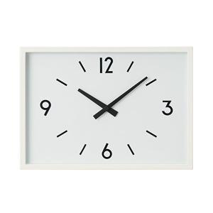 無印良品 駅の時計・電波ウォールクロック・アイボリー 掛時計(収納スタンド付) 無印良品