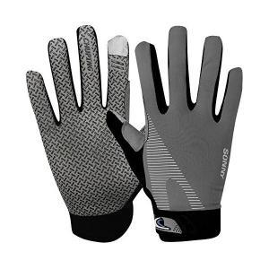 サイクリンググローブ メンズ 夏用 手袋 薄型 肌触りいい 5本指 グローブ 滑り止め UVカット 通気性よい スマホ対応 登山 バイク 運転 アウ mount-n-online