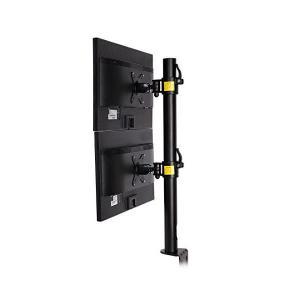 FLEXIMOUNTS モニターアーム 上下2台設置 デュアルモニター対応 クランプ式 30インチ1...