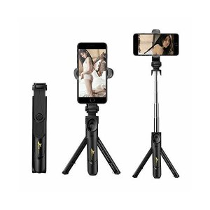 Bluetooth 自撮り棒 Aiueo 携帯 セルカ棒 スマホ スタンド 携帯ホルダー 一脚/三脚兼用 無線リモコン付き 軽量便携 遠隔撮影対応【|mount-n-online