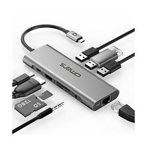 Omars USB C ハブ 9 in 1アルミニウム PD対応 typec hub(HDMI 4K...