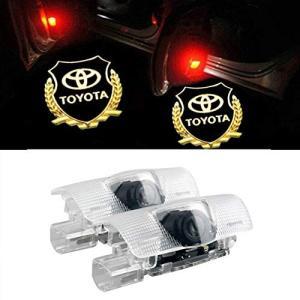 GEEANDLY 車用 カーテシーランプトヨタ ロゴ 高輝度のLEDチップ カーテシライト ドアライト 2個セットドア 適合 Toy|mount-n-online