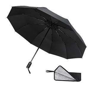 【自動開閉】ワンタッチボタンで片手で楽々に傘を開閉できます。車に乗り降りする時、荷物が多い時、片手が...