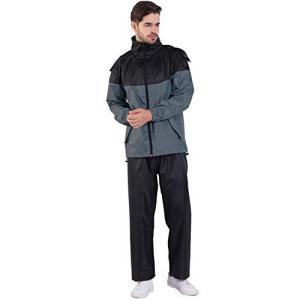 レインスーツ メンズ Vialifer レインスーツ 上下セット レインコート レインウェア レディース 防水 撥水 透湿|mount-n-online