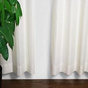 窓美人 ステップLight ドット ストライプ柄カーテン アイボリー 2枚組 幅100丈90cm フック タッセル おしゃれな柄|mount-n-online