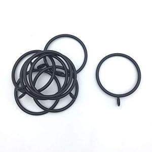 カーテンリング 50mm カーテンスライドリング ブラック 直径45mmまでのポールに適用 10個入|mount-n-online