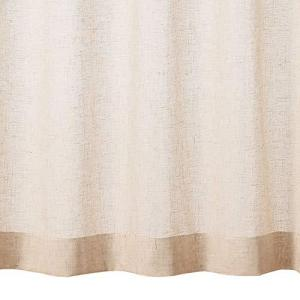 無印良品 ポリエステル麻ボイルプリーツカーテン・2枚組/生成 幅100丈198cm 82485820|mount-n-online