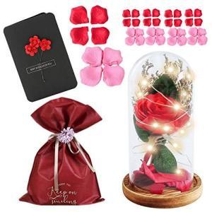 nullie バラ メッセージカード 造花 ライト 薔薇グッズ 贈答用袋 光るバラ 5種セット|mount-n-online