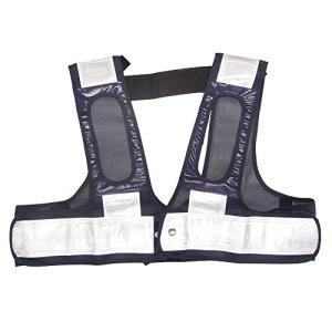 ミズケイ フルハーネス用安全ベスト「装着できるんです」紺/白 5941111|mount-n-online