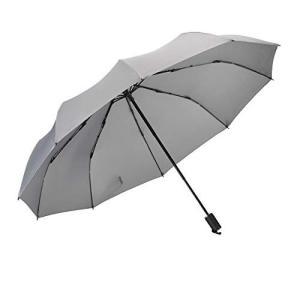 Vialifer折り畳み傘 軽量 手動開閉 10本骨 116cm 折りたたみ傘 耐風撥水 晴雨兼用 収納ケース付き グレー|mount-n-online