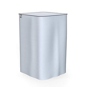 洗濯機カバー 屋外 防水 防塵 Dewel 改良版 全自動洗濯機用 防湿 紫外線対策 劣化防止 ファスナー付き (シルバー)|mount-n-online