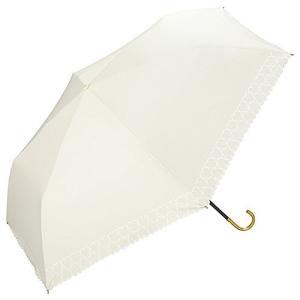 ワールドパーティー(Wpc.) 日傘 折りたたみ傘 オフホワイト 白 50cm レディース 傘袋付き 遮光ハートヒートカット|mount-n-online