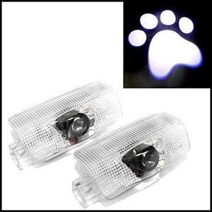 LEXUS レクサス GS HS IS LS LX NX RX (CT非対応) カーテシ LED ライト 足跡デザイン WW-083D 【トヨタ純正品番 81230-48020 に mount-n-online