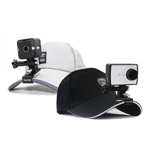 簡単に帽子やバックパックなどに取り付けられるクリップ。 素材:アルミ合金+ PC、耐久性と軽量で、使...