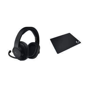 【ロジクール 最新ゲーミングヘッドセット セット】 G433BK  G240t mount-n-online