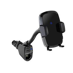 ペルシード Pellucid qi対応 スマホホルダー フレキシブルワイヤレス充電ホルダー シガーソケット取付タイプ BK SP|mount-n-online