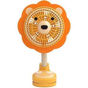 イマージ クリップ扇風機 ライオン ベビーカー クリップ 扇風機 おでかけ 携帯 電池式|mount-n-online