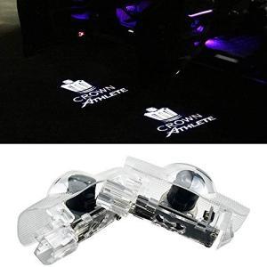 HAOHAOYUN カーテシライト LEDロゴ投影 ゴーストシャドウ クラウン アスリート ドアランプ 2個セット 車用 カーテ mount-n-online