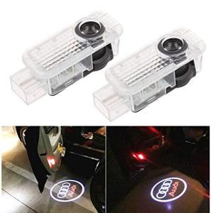 GYAUL 2個セット ドアウェルカムライトカーテシランプ レーザーロゴライト アウディ LEDロゴ投影 ゴーストシャド|mount-n-online