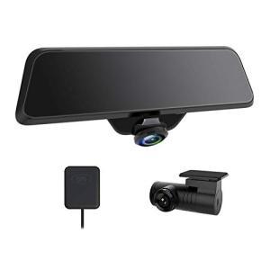 AKEEYO ドライブレコーダー バックミラー型 前後2カメラ GPS機能 16microSDカード付属 ドラレコ 360度 広角 ノイズ対|mount-n-online