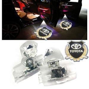 Minile トヨタ汎用 カーテシランプ ロゴ 4個セット 工具付 ドアウェルカムライト カーテシライト LEDロゴ投影 20系|mount-n-online