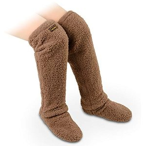 TWONE ルームシューズ 暖かい もこもこ ルームブーツ 男女兼用 極暖 防寒 あったか 足が出せるロングカバー 軽量|mount-n-online