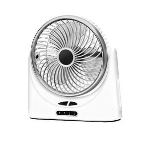 Verkstar USB扇風機 サーキュレーター 卓上扇風機 風量3段階調節 超静音 USB充電式 大容量4000mAh モバイルバッテリー|mount-n-online